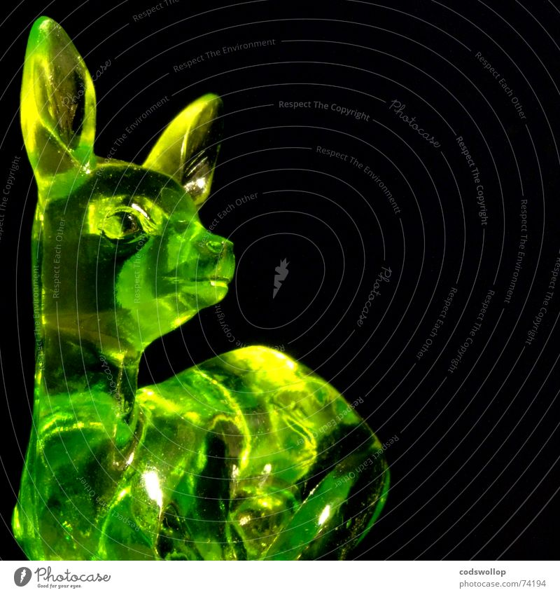 Green Colour Animal Black Yellow Style Decoration Wild animal Esthetic Cute Kitsch Plastic Hunting Statue Sculpture Deer