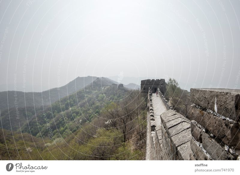 Sun Mountain Spring Wall (barrier) Exceptional Tourism Beautiful weather Protection Historic Landmark Tourist Attraction China Mutianyu Great wall