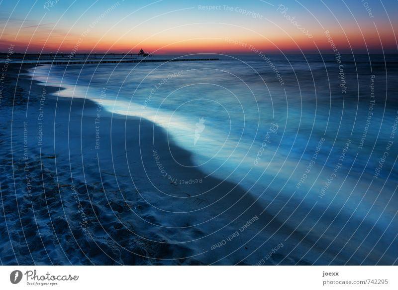 Sky Vacation & Travel Blue Beautiful Water Summer Ocean Calm Beach Black Coast Freedom Horizon Orange Waves Idyll
