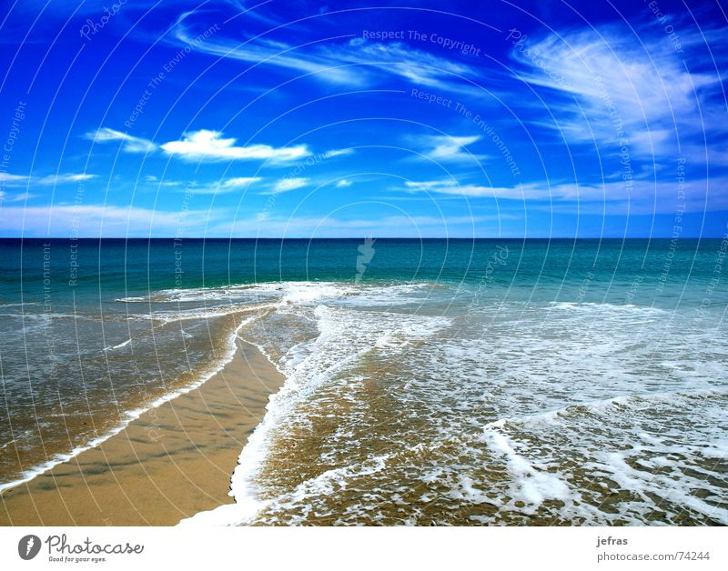beach in the summer Beach Nature Sky Summer Vacation & Travel blue bubbles clouds coastlines landscapes ocean sea skims swim vacations wave