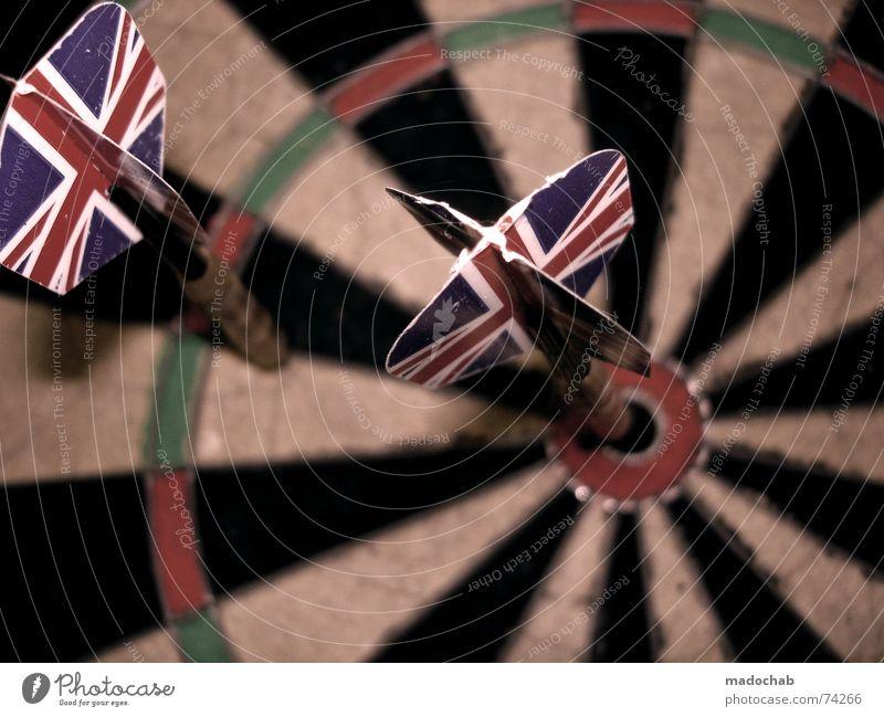 BULLSEYE | dart darts arrows sport sports throw unionjack Darts Direct hit Aim Trajectory Far-off places Playing Dartboard Union Jack England Red Green Black