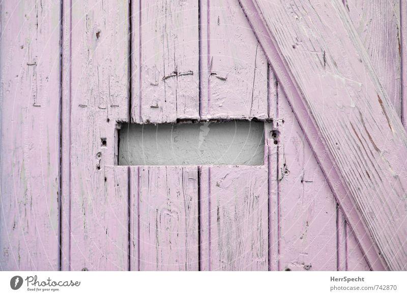 Inbox DIY House (Residential Structure) Detached house Door Mailbox Wood Old Funny Cute Trashy Gloomy Self-made Hollow Tilt Saw Pink Wooden door Front door Slit
