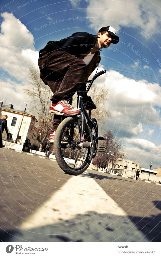 bmxzone.ru man #2 BMX bike flatland building Bicycle noon outdoor shooting town