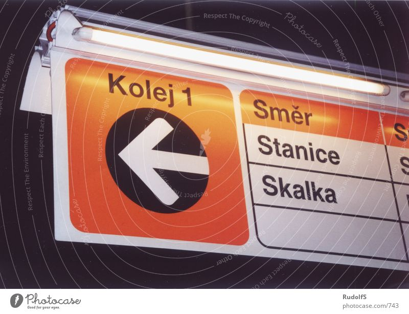 Signs and labeling Transport Railroad Railroad tracks Underground Prague