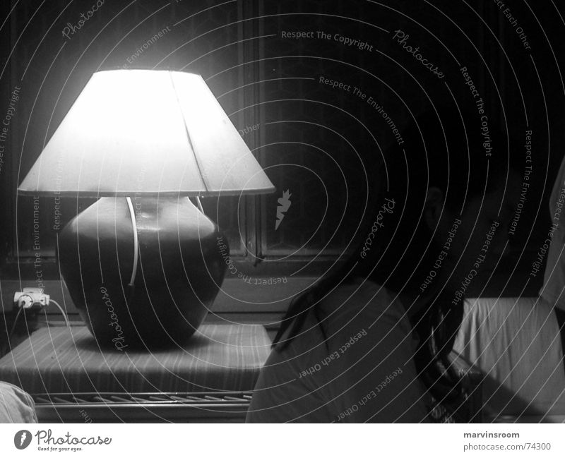 nightlife Light lamp Black & white photo dark shadow lighting