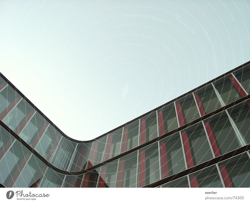 cornerstone House (Residential Structure) Facade Reflection Graphic Modern Glass Corner Sky Calm constructed exterior shot extreme perspective Architecture