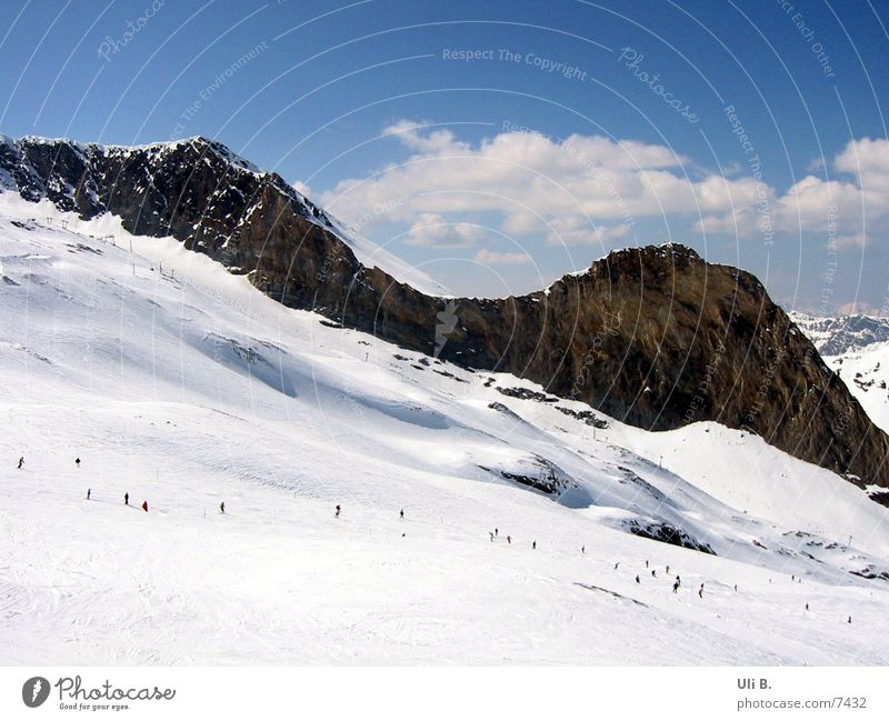 Snow Mountain Skiing Glacier