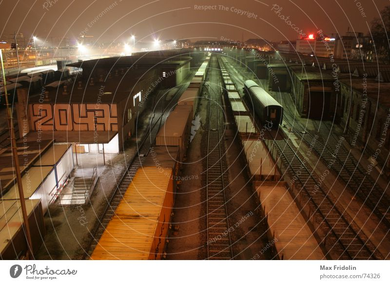 Winter House (Residential Structure) Cold Snow Sadness Building Architecture Fog Transport Railroad Logistics Industrial Photography Station Train station Downtown