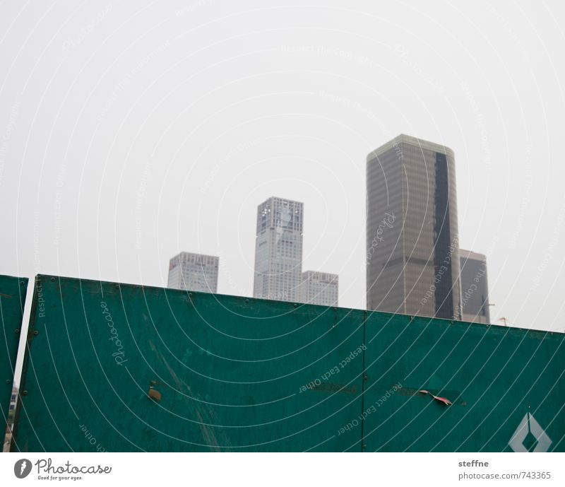 City City life Modern High-rise Downtown China Overpopulated Beijing