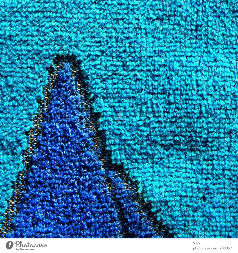 terry mountains Towel Terry cloth Soft Blue Turquoise Cloth Bathroom Wash Colour photo Multicoloured Close-up Detail Deserted Copy Space top Day