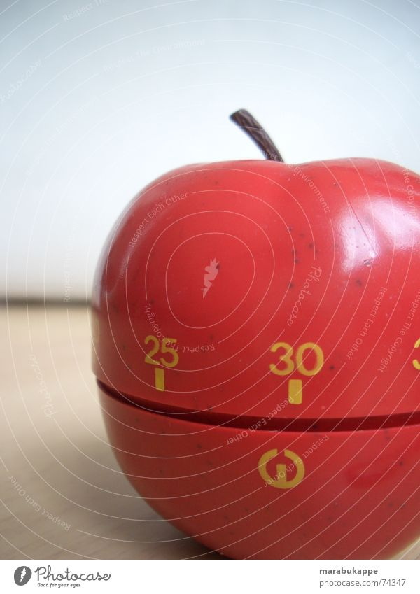 Red Time Digits and numbers Apple 30