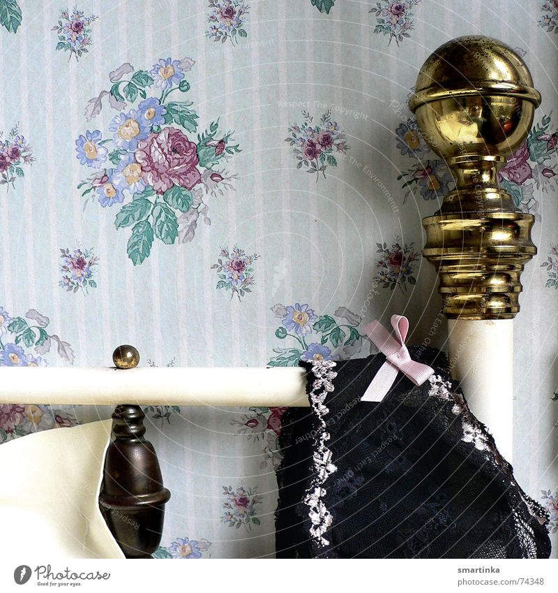 Time Bed Romance Wallpaper France Underwear Wake up Bra Hotel room Brass Good morning