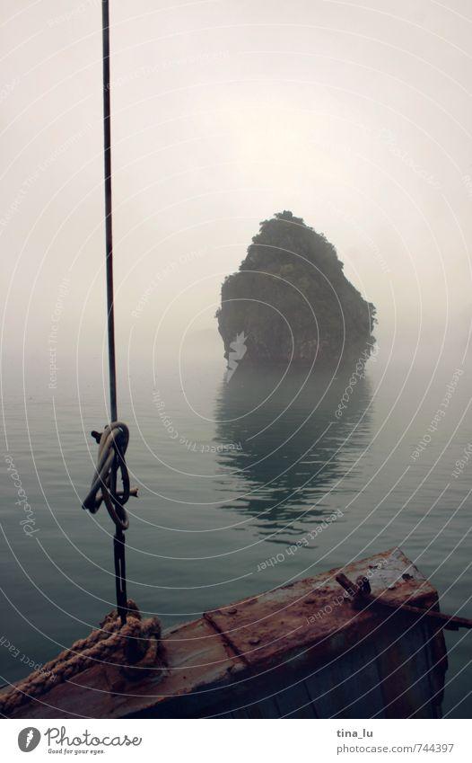 Ocean Calm Environment Watercraft Rock Dream Fog Power Island Rope Grief Bay Asia Pride Mystic Bad weather