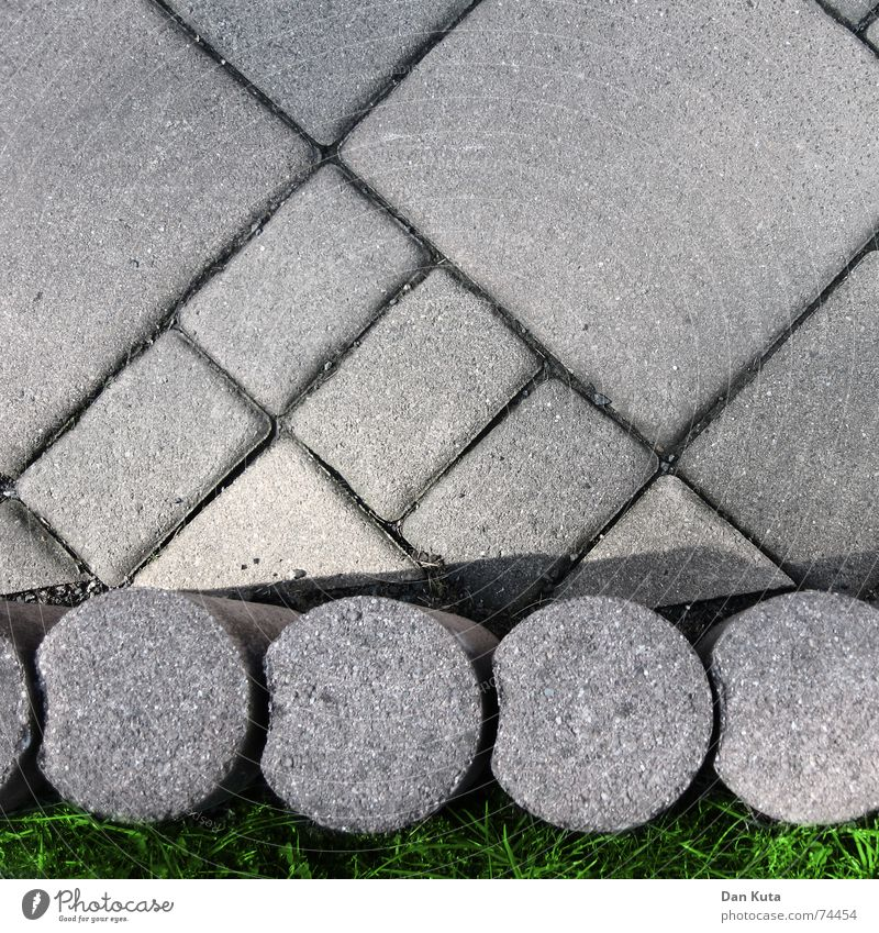 Nature Meadow Gray Stone Small Feet Earth Dirty Concrete Large Crazy Floor covering Lawn Round Clean