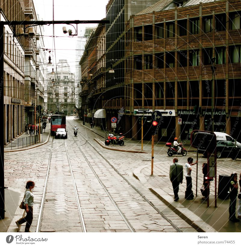 Human being City House (Residential Structure) Italy Block Tram Milan