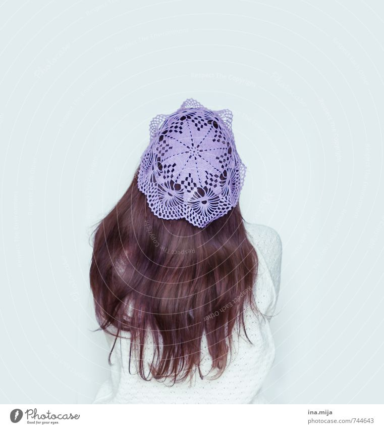 crocheted cap Human being Feminine Young woman Youth (Young adults) Woman Adults 1 18 - 30 years 30 - 45 years Fashion Accessory Jewellery Cap