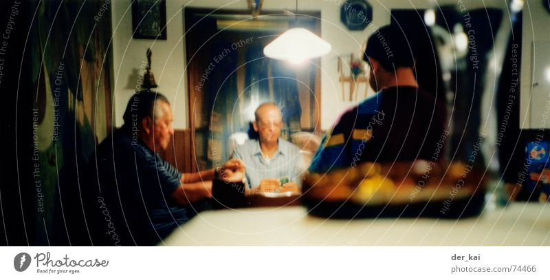 boing and exusu with a cosy beer Skat Roadhouse Lomography Game of cards Man Multiple Regulars Closing time Adults
