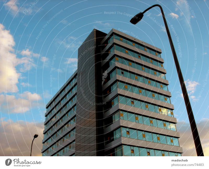 Sky Blue City Clouds Cold Freedom Architecture Style Building Business Contentment Power Flat (apartment) Facade Elegant Flying
