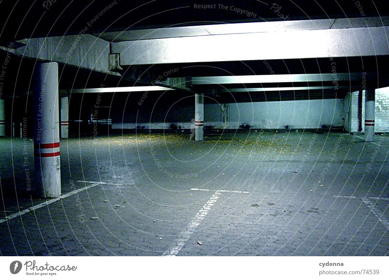 closing time Underground garage Parking garage Parking lot Closing time Problem Selection Eerie Cold Calm Architecture Traffic infrastructure Signs and labeling