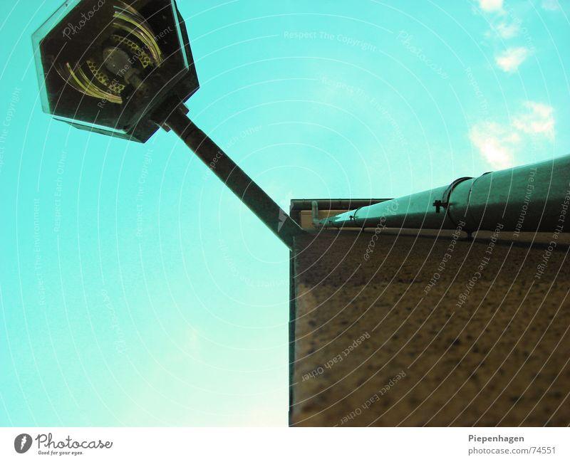 Sky Clouds Wall (building) Above Rain Glass Facade Lantern Rod Gutter