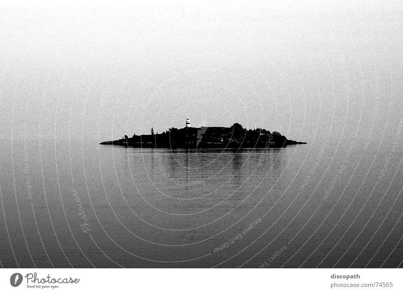 Lost Horizon Fog Lake Gray Dark Lighthouse Mirror Loneliness Air Clouds Ocean Iceland Sky Island Sweden Water grey darl sea