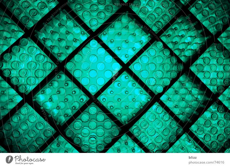 Green Calm Relaxation Lighting Glass Perspective Bottle Turquoise Grating Indirect light