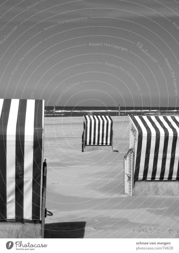 Nature Water Sky Ocean Summer Beach Vacation & Travel Calm Lake Sand Waves Environment Stripe Direction North Sea Beach chair