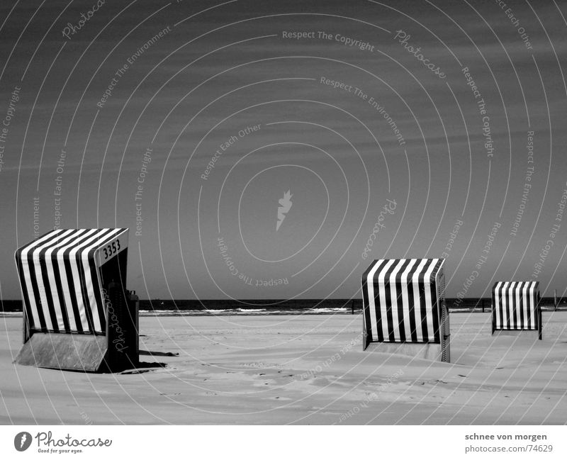 living in b&w (2) Lake Beach Beach chair Vacation & Travel Ocean Environment Stripe Right Direction Calm Waves Sky Nature Bathing place Black & white photo