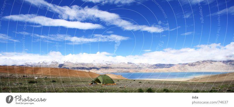 base camp Tent Storage area Lake India Camping Sleeping place Tsomoriri Ladakh Sky mentok