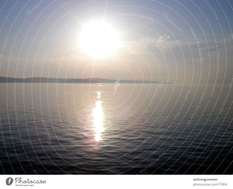 reflections Mainau island Calm Water Sun Sky Evening Lake Constance