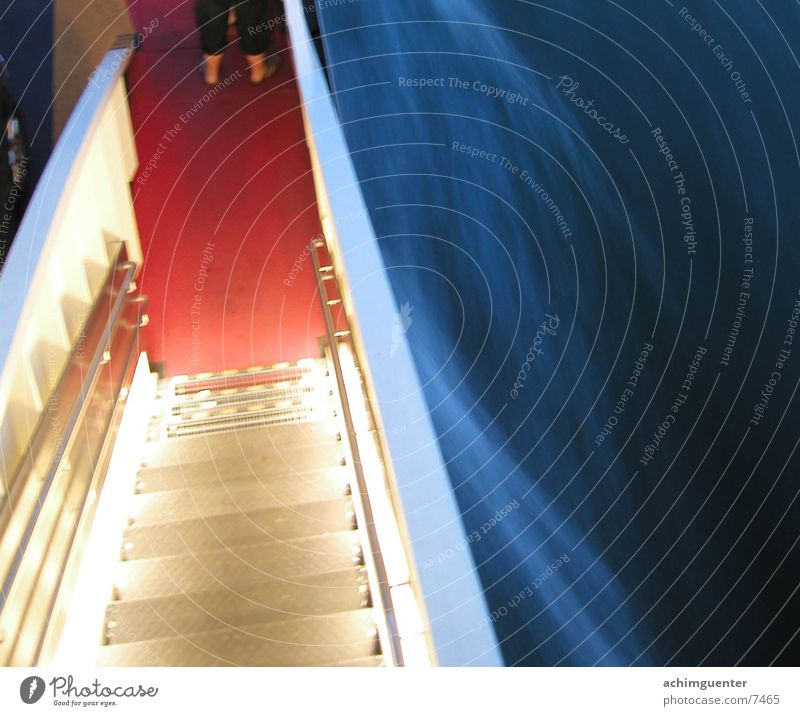 bright staircase Watercraft Lamp Waves Light Speed Navigation Stairs Evening Handrail