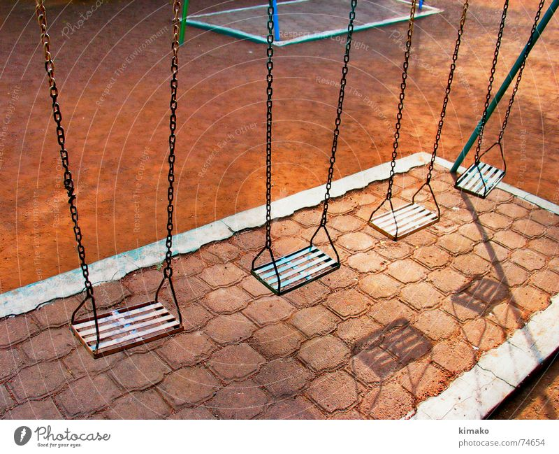 Loneliness Park Sand Earth Swing Playground Mexico