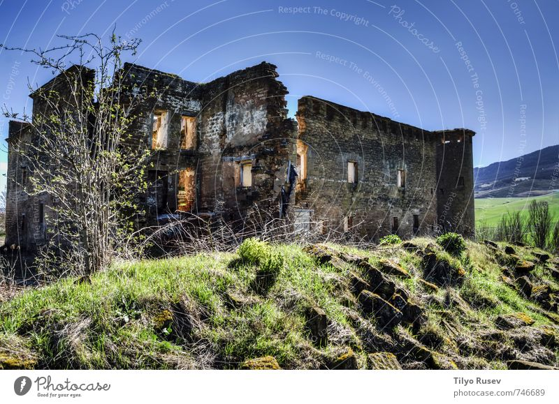 House ruins Vacation & Travel Old House (Residential Structure) Architecture Building Stone Europe Photography Vantage point Spain Village HDR Ruined