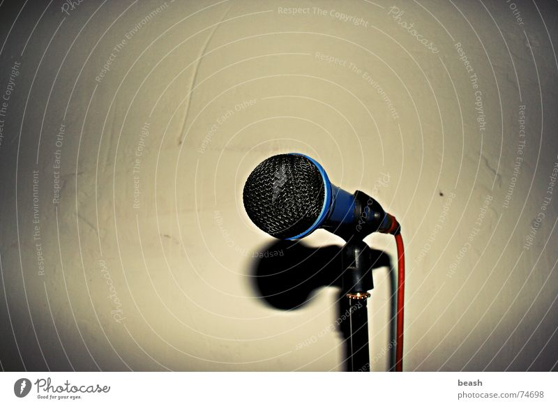 mic. Music microphone dark object plain poorness Wall (barrier) Interior shot