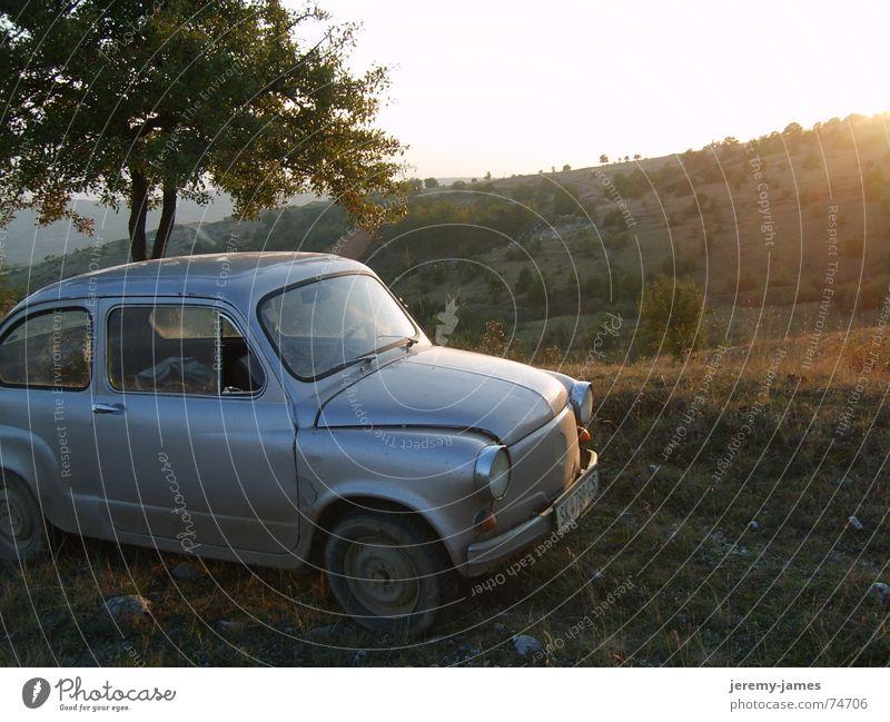 Off the road Sunset Hill Car Landscape Mountain figio macedonia Individual