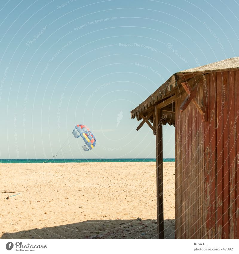 Low Season IV Joy Vacation & Travel Tourism Summer vacation Beach Ocean Sky Cloudless sky Spring Beautiful weather Hut Anticipation Patient Calm Wooden hut