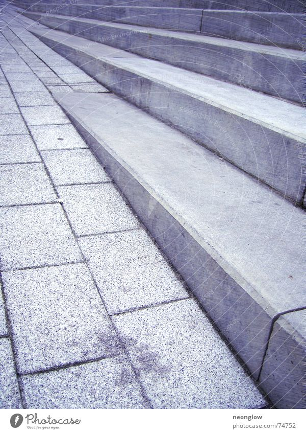 Blue Movement Stone Going Walking Stairs Corner Upward Downward