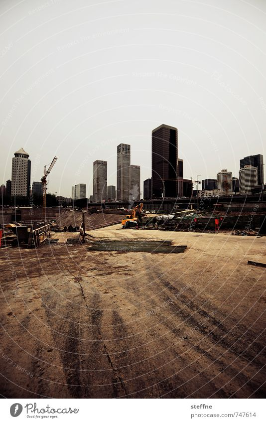expansion Beijing China Skyline High-rise Town Construction site Growth Colour photo