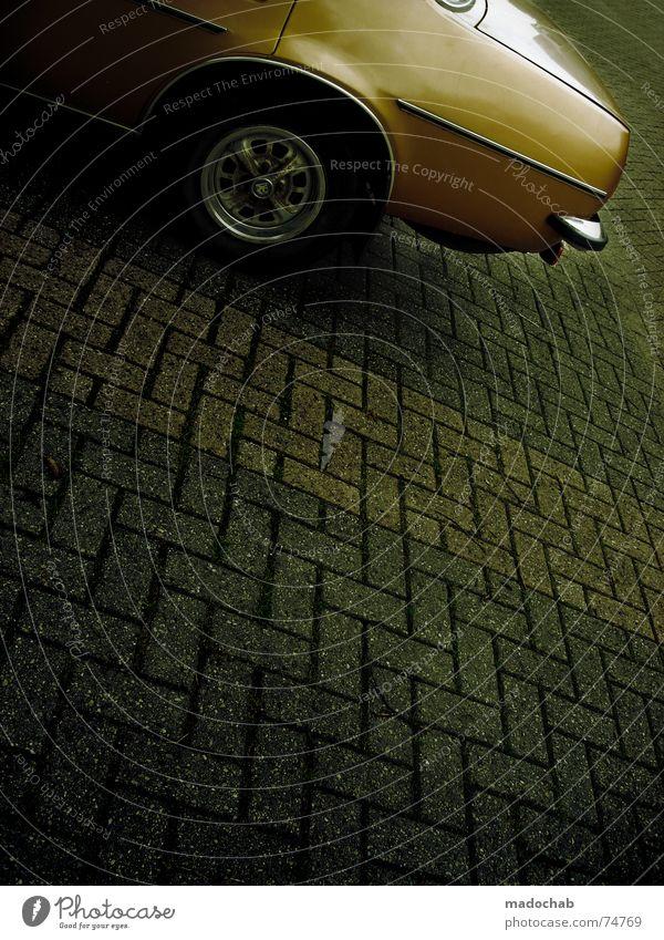 White Street Gray Car Line Orange Background picture Signs and labeling Transport Gloomy Floor covering Illustration Asphalt Under Square Trashy