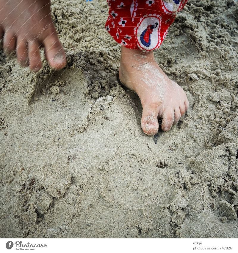Human being Child Vacation & Travel Girl Joy Life Emotions Playing Going Sand Jump Feet Leisure and hobbies Lifestyle Infancy Stand