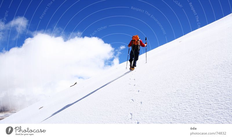 Winter Clouds Cold Snow Mountain Climbing India Freeze Mountaineering Glacier Carrying Slope Winter sports Steep Backpack Climbing aid