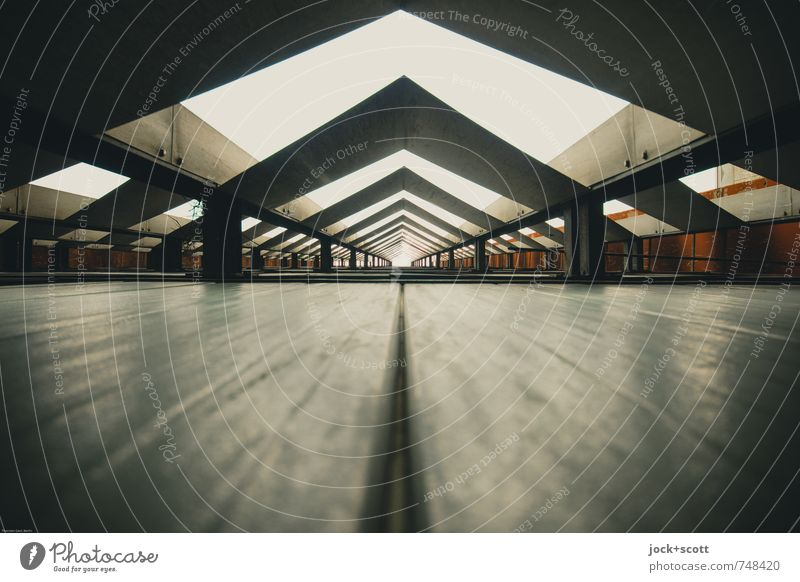 somewheres ever GDR Lichtenberg Wall (building) Cladding Decoration Metal Triangle Sharp-edged Glittering Long Retro Center point Irritation Tunnel vision