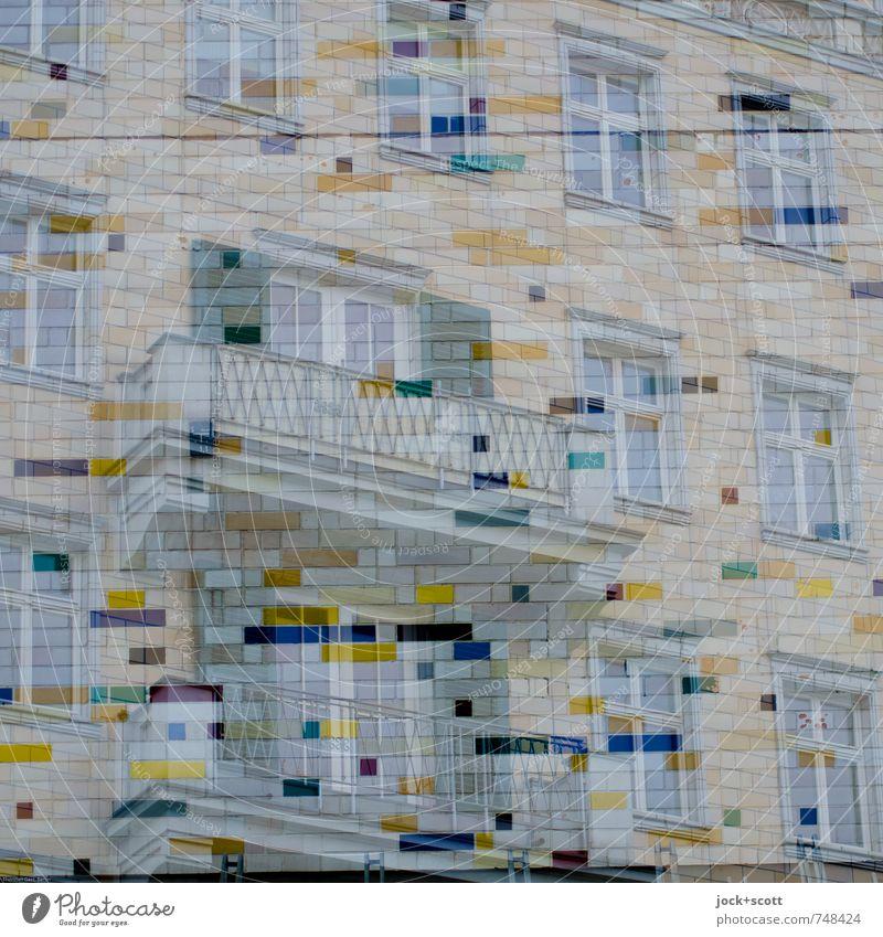 Kosmos Elegant Sightseeing Living or residing Classicism Socialism World heritage Friedrichshain Town house (City: Block of flats) Wall (barrier)