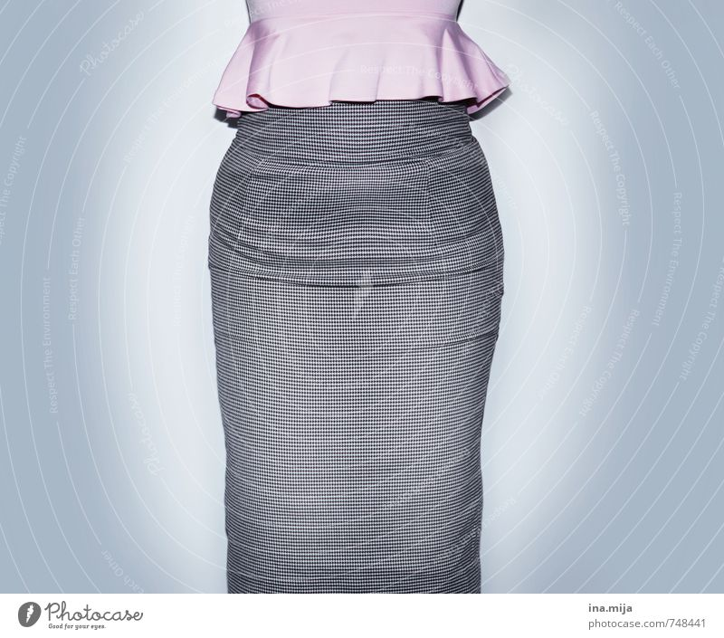 Human being Woman Child Youth (Young adults) Young woman 18 - 30 years Adults Feminine Style Gray Fashion Pink Business Lifestyle Body Elegant