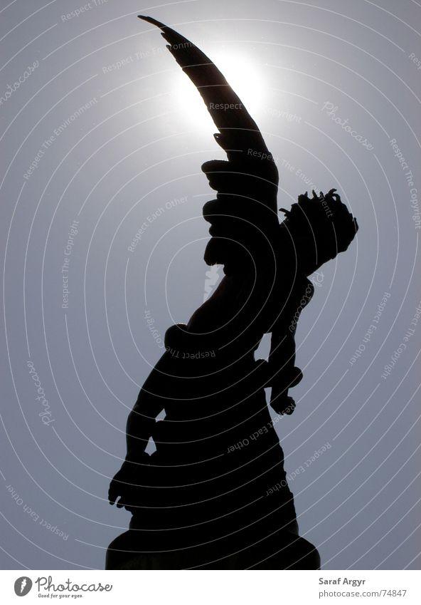 Black Park Angel Places Threat Statue Silhouette Spain Paradise Lose Devil Sin Madrid Revolt Fine Art