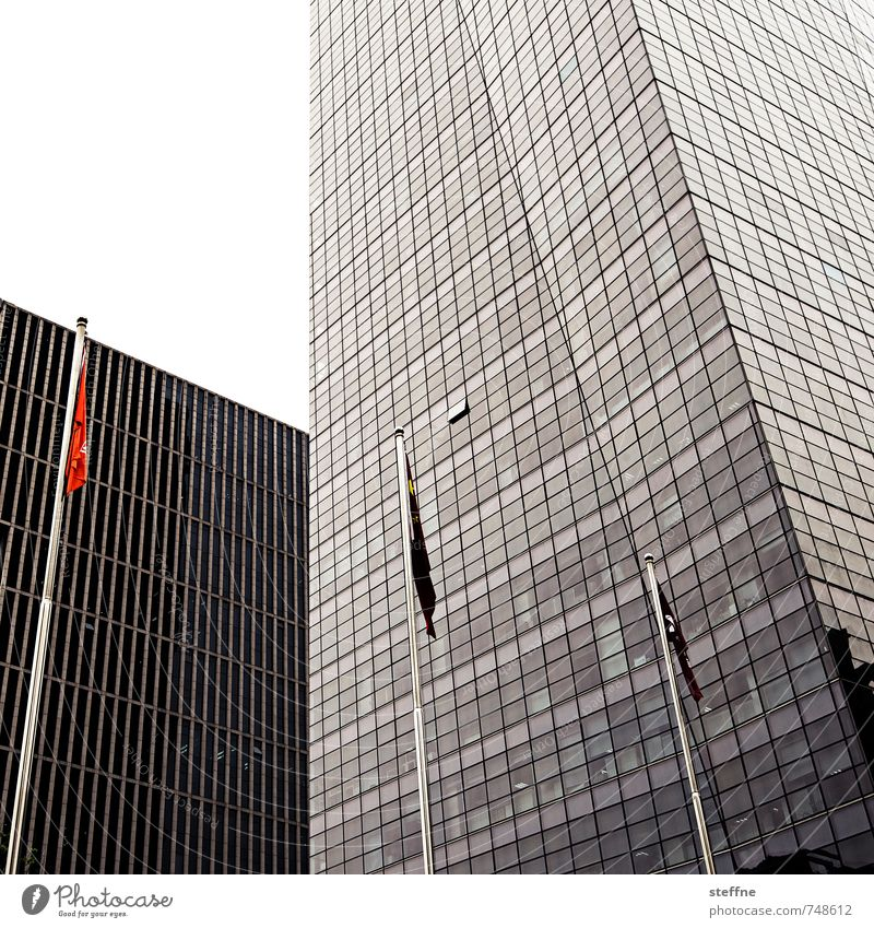City City life Modern High-rise Flag Downtown China Overpopulated Beijing