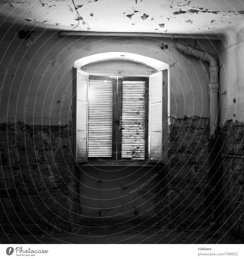 passed and forgotten iii Building Window Illuminate Old Dirty Dark Creepy Broken Town Loneliness Stagnating Decline Past Transience Forget Empty Shutter