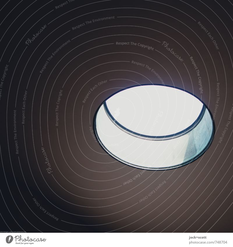 Light in a circle Architecture Downtown Berlin Roof Pool of light Tourist Attraction New Guard House Simple Above Accuracy Center point Hollow Detail Abstract