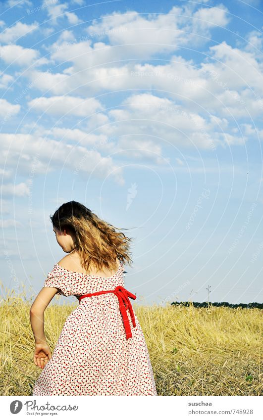 Child Sky Nature Youth (Young adults) Summer Young woman Hand Landscape Clouds Girl Environment Warmth Life Feminine Hair and hairstyles Natural
