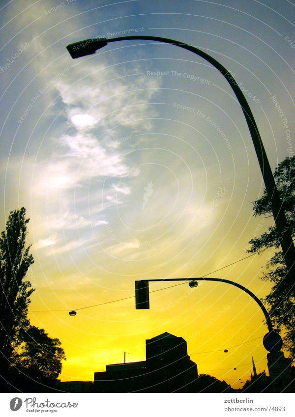 Sky Tree Sun Clouds Lantern Skyline